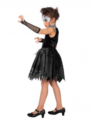 Kleid Halloween mit Spinne Kinder