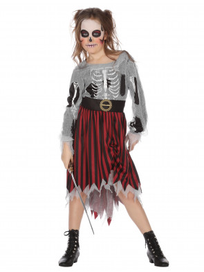 Kleid Piratin Halloween Kinder
