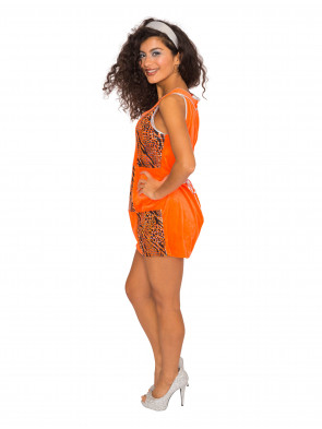 Kleid Disco orange