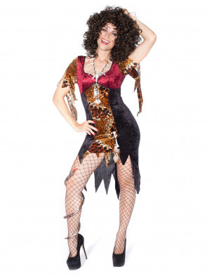 Kleid Voodoo Queen mit Leoprint
