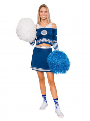Cheerleader Damen blau 2-tlg.